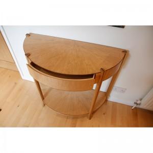 Bespoke oak and walnut table by Mark Williamson Furniture