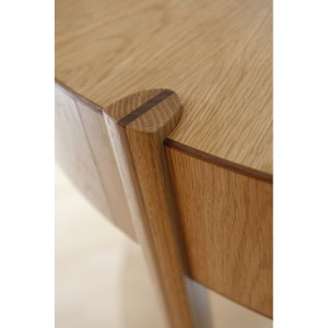 Bespoke oak and walnut table by Mark Williamson Furniture
