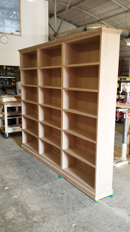 Bespoke shelving by Mark Williamson Furniture - Buckinghamshire