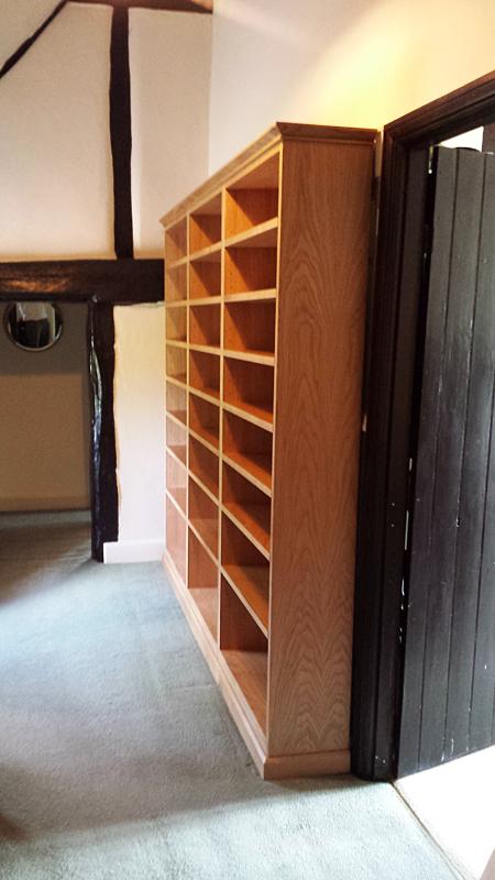 Bespoke shelving by Mark Williamson Furniture - Buckinghamshire