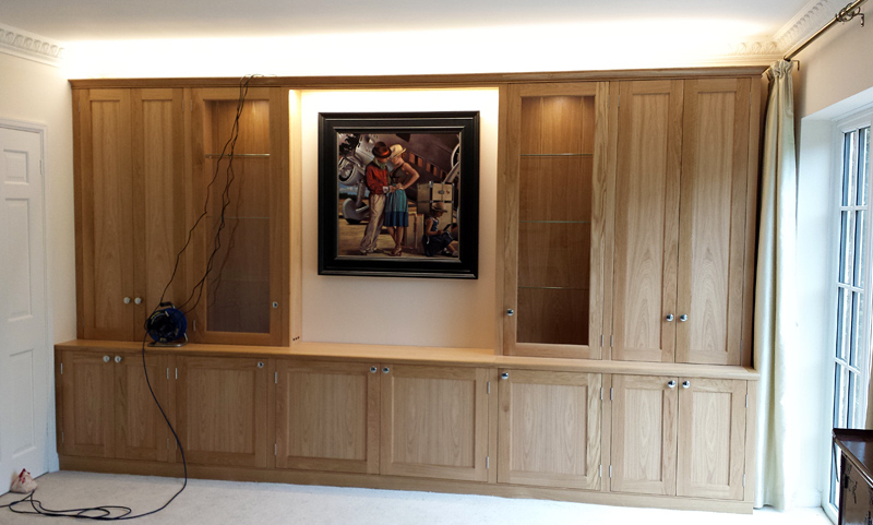 Oak Living Room Cabinet Finished And Fitted Mark Williamson