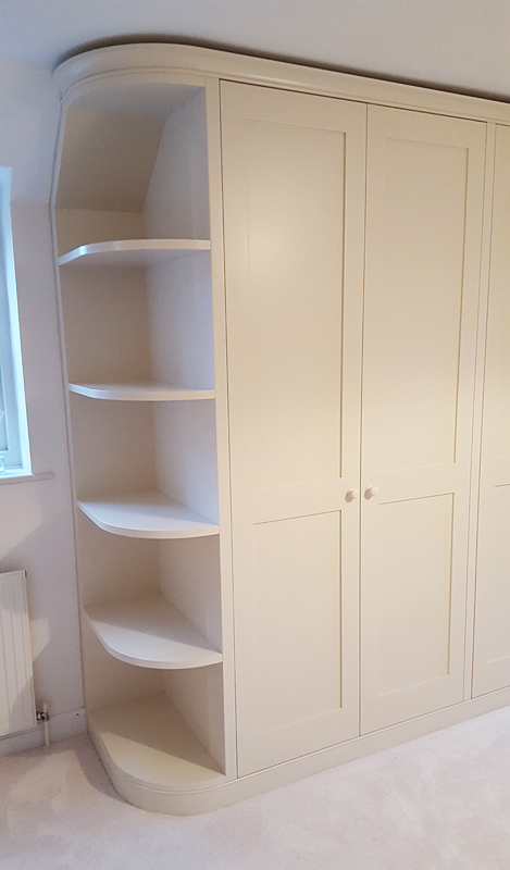 curved wardrobe by Mark Williamson Furniture