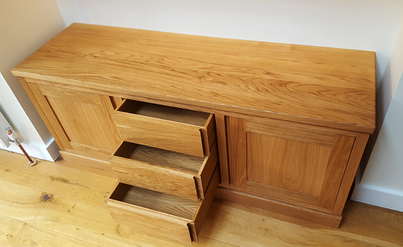 Bespoke shelves and sideboard Mark Williamson Furniture