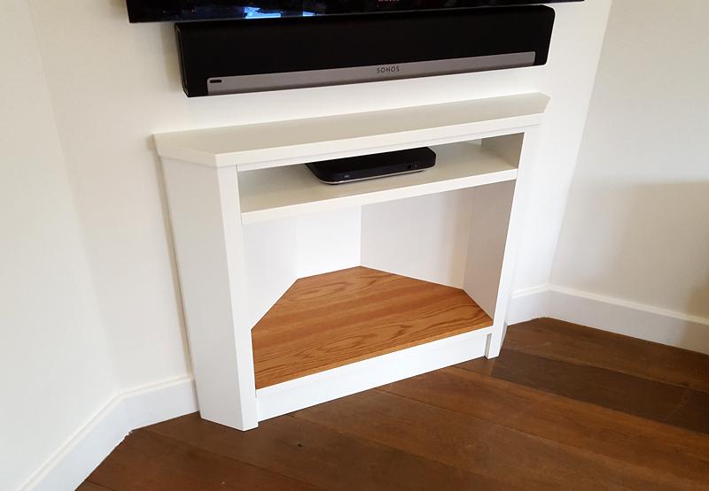 custom TV stand by Mark Williamson Furniture