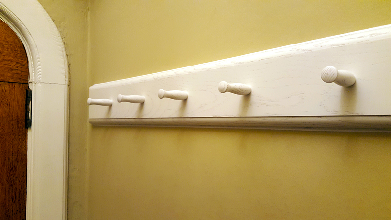 Coat peg rail by Mark Williamson Furniture