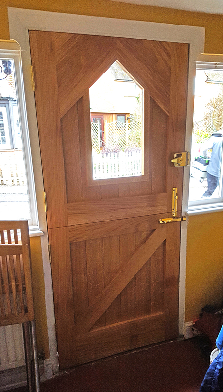 Custom oak stable front door