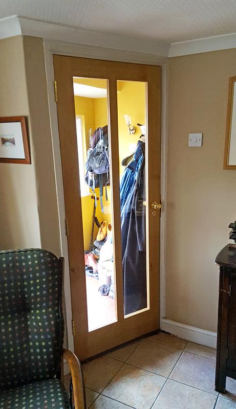 Custom oak stable front door