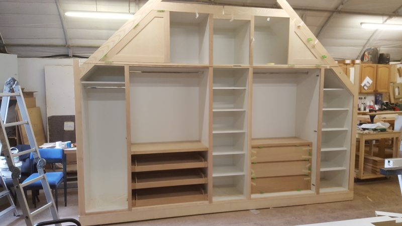 Wardrobe at our workshop during construction