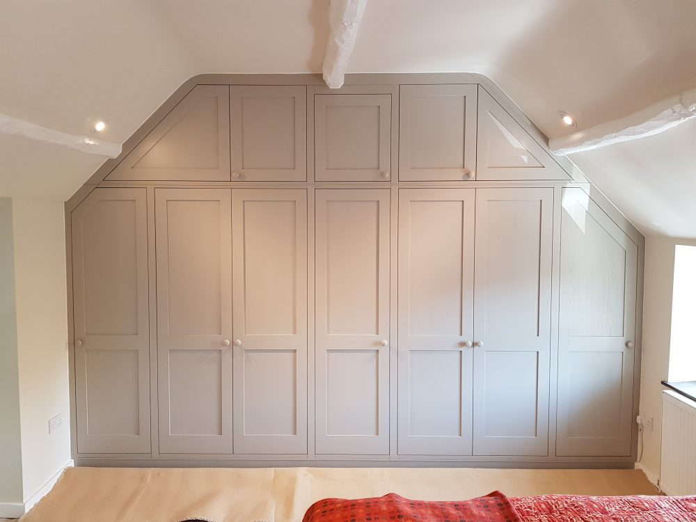 Bespoke fitted wardrobe in a character property